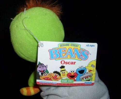 Sonstige 17.8cm Vintage 1997 Grün Oscar Griesgram Bohnen Plüschtier Spielzeug Sesamm St
