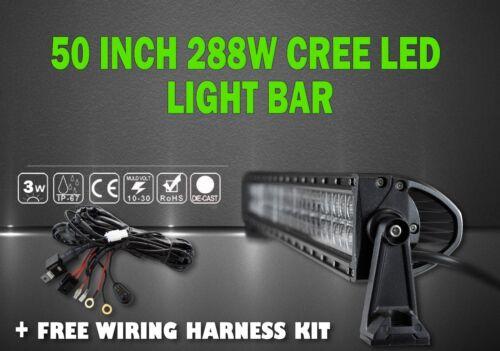 LED LIGHT BAR KIT 50inch CREE LED Work Light Bar 288W Straight Truck Offroad ATV