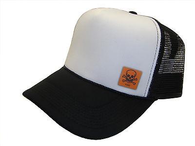 Human Skull Irish Flag Adult Mesh Cap Adjustable Trucker Hat Orange