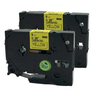 Brother TZ-621 P-Touch Laminated Compatible Black on Yellow Tape 9mm 8m TZe 621
