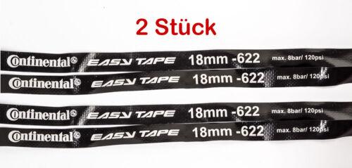 2 Stück Radsport 28-29 Zoll Continental Fahrrad Felgenband 18mm Easy Tape 18-622 MTB