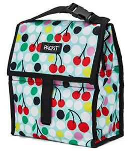 PackIt Freezable Lunch Bag with Zip Closure, Cherry Dots ...