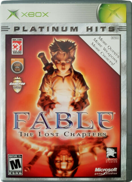 FABLE - The Lost Chapters (Microsoft XBOX, 2005)  Platinum Hits Complete *MINT