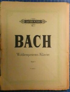 Edition-Peters-No-1-Bach-Wohltemperiertes-Klavier-Band-1-Czerny-H8453