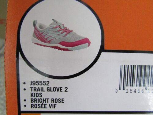 NEW MERRELL TRAIL GLOVE 2 LACE UP TRAIL SHOES GIRLS 6 WOMENS 7//7.5 FREE SH