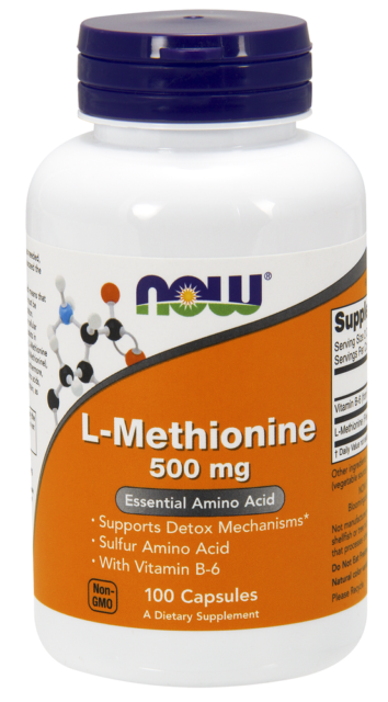 L-Methionine 500mg Now Foods 100 Caps