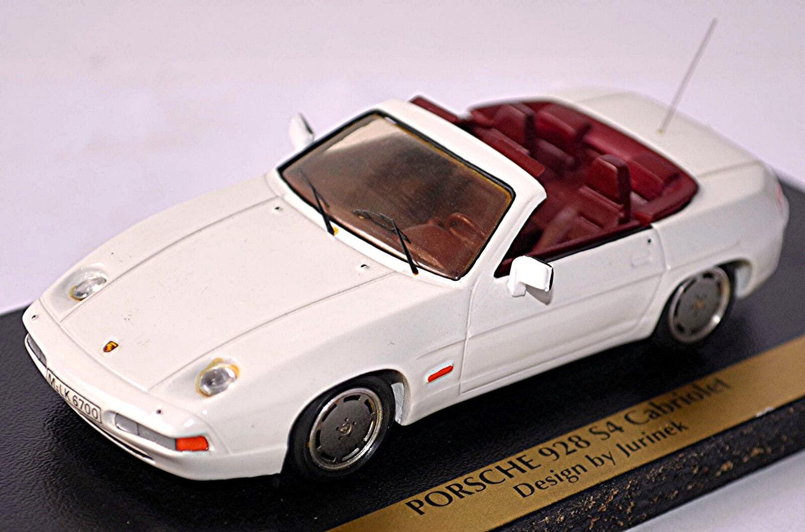 PORSCHE 928 s4 Cabriolet jurinek 1987-88 Blanc White White White 1:43 MOG Résine Model | Des Styles Différents  cc9639