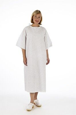 2x Unisex PATIENT GOWN, Reusable Wrap Around Style - Hospital Night Dress, 0 P&P