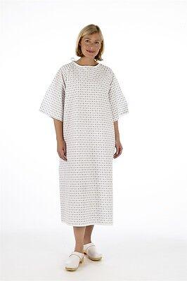2x Unisex PATIENT GOWN, Reusable Wrap Around Style - Hospital Night Dress, 0 P&P
