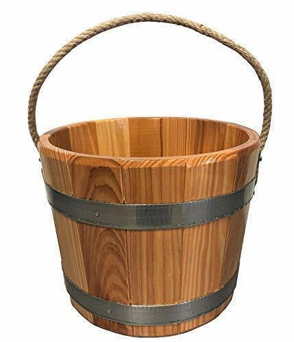 autentico Sudorewell ® saunaaeimer sauna portavasi LARICE LARICE LARICE LEGNO igiene sigillo canapa da Trasporto Fune  grandi prezzi scontati