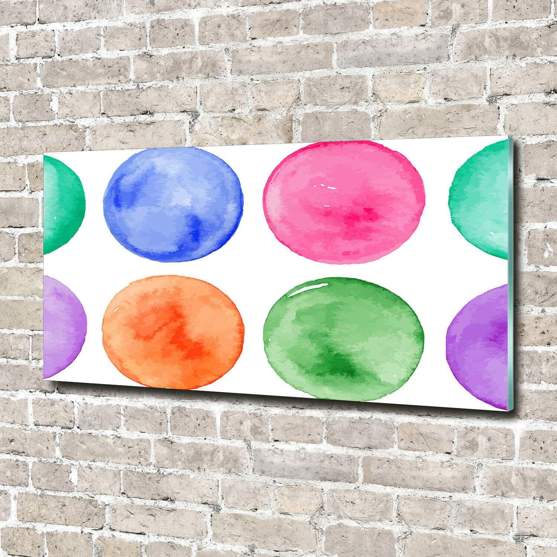 Acrylglas-Bild Wandbilder Druck 140x70 Deko Sonstige Bunte Kreise