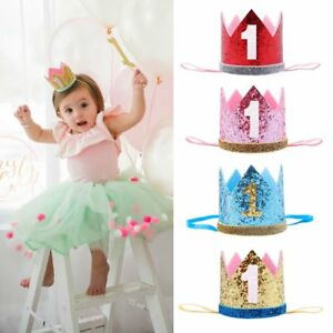 Image Is Loading Boys Girls Crown Hair Band Baby Birthday Hat