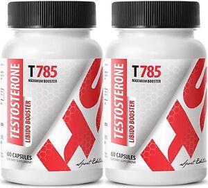 Testosterone Libido Booster T785 2 Bottles 120 Tablets) 739862240742 eBay