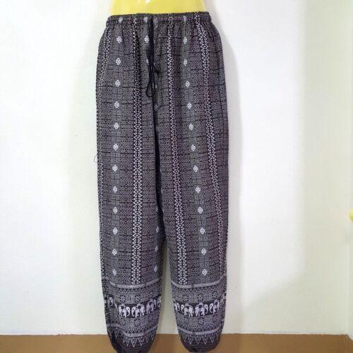 Men/'s Cotton Thai Harem Pants Soft Loose Casual Drawstring Long Trousers .