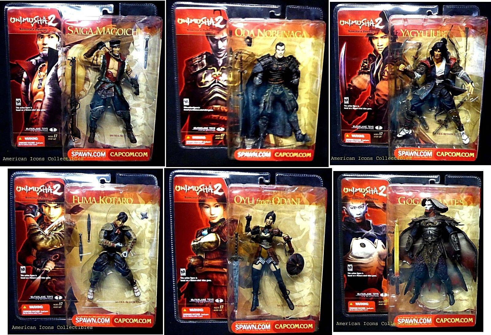 Onimusha 2 Samurai's Destiny 6 Action Figure Set McFarlane Toys Nuovo From 2002