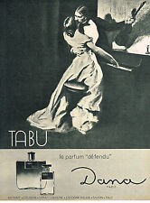 PUBLICITE ADVERTISING  1964    DANA   parfum défendu TABU