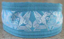 TURQUOISE GRIFFIN COLLAR w LEAD ITALIAN GREYHOUND MALTESE CHINESE CRESTED XOLO