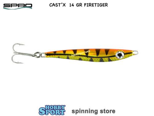 METAL JIG SPRO CAST/'X  14 gr  COLOR FIRETIGER   5cm SPINNING MARE LAGO