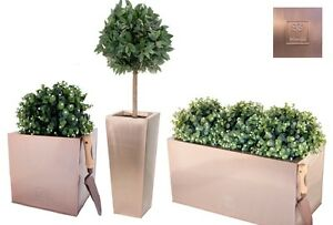 Attirant Image Is Loading Bronze Copper Planters Indoor Outdoor Plant Pots Garden