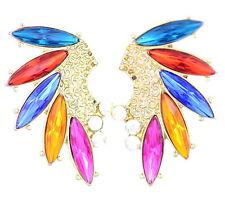 Muy poco comunes pendientes de colores de las alas de aves de cristal