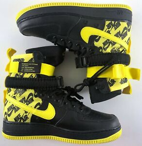 448e92d6c843e Nike Air Force 1 SF-AF1 High Men Boot Black   Dynamic Yellow AR1955 ...