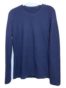 Brooks-Brothers-Women-100-Merino-Wool-Crew-neck-sweater-Dark-Blue-Sz-S
