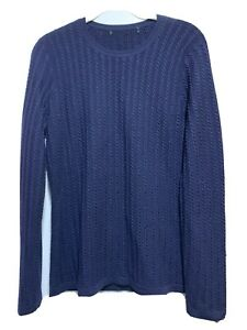 Brooks Brothers Women 100% Merino Wool Crew neck sweater Dark Blue, Sz S