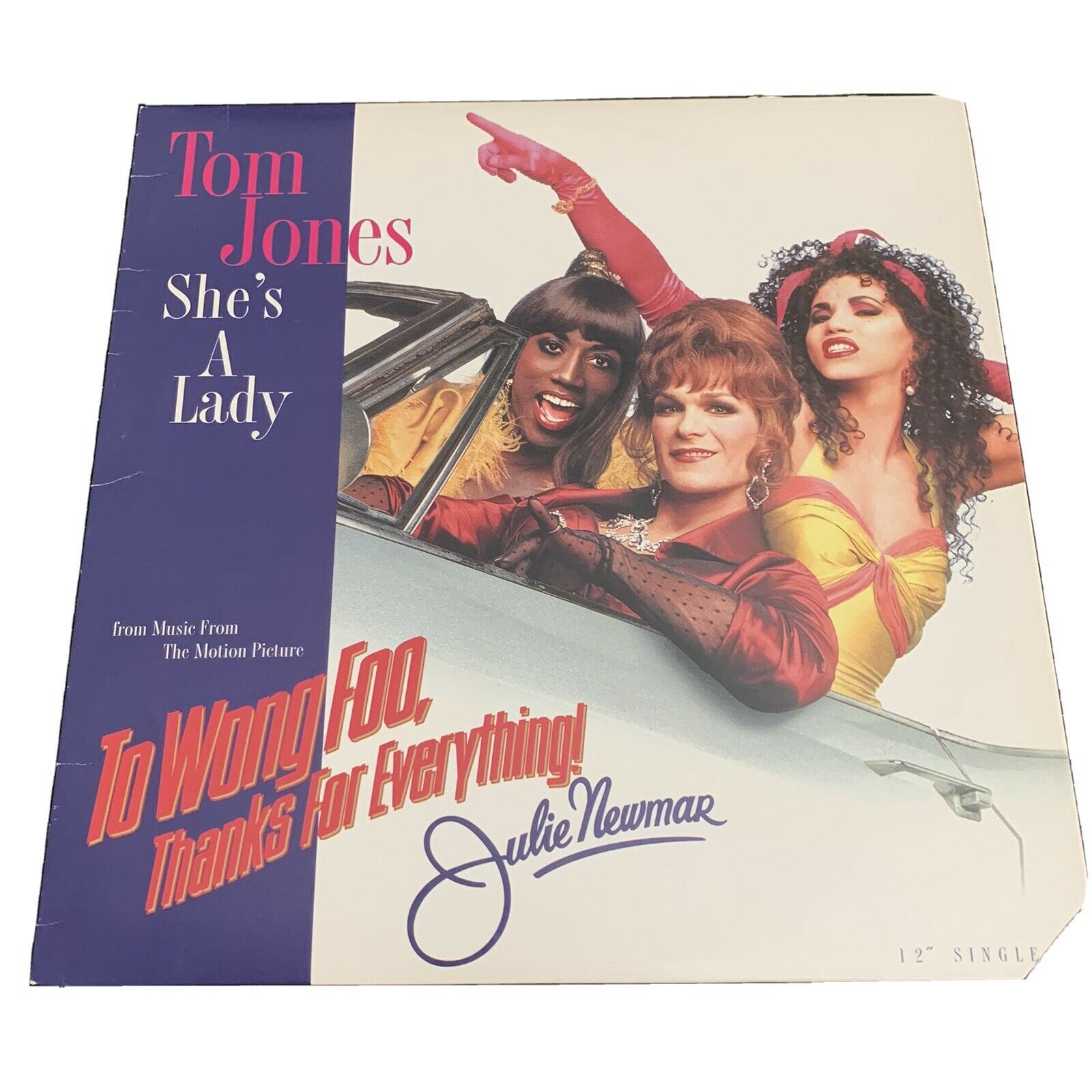 Tom Jones She S A Lady 12 Vinyl Single To Wong Foo Extended Tribal Beats Mix 0008815514415 For Sale Online