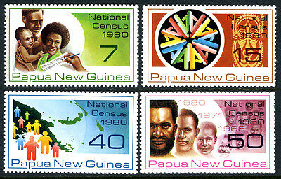 Postfrisch National Census Billiger Preis Papua Neu Guinea 517-520 1980