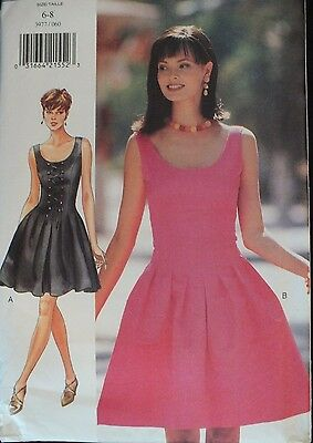 OOP BUTTERICK 4994 Fitted A-line /& Flared Dresses PATTERN 6-8-10//12-14-16 UC