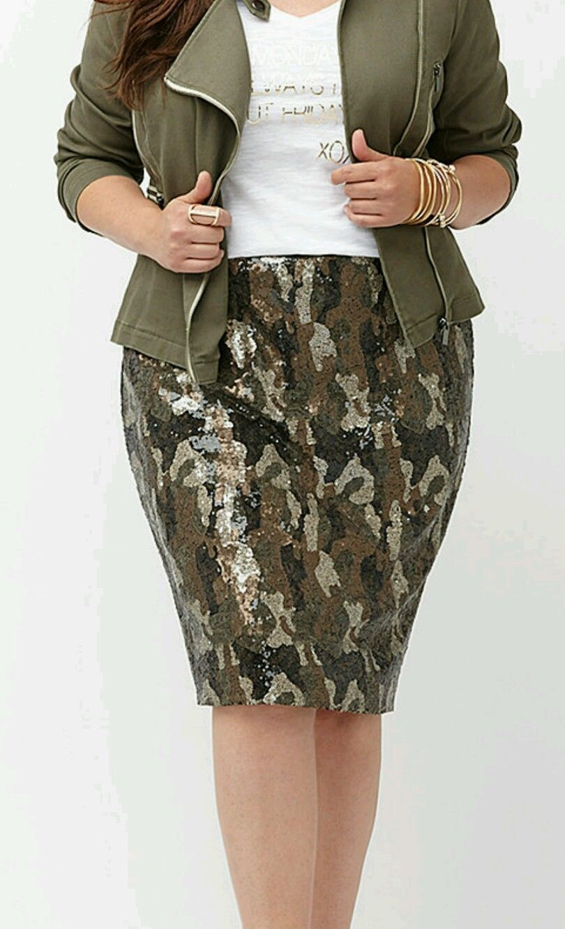 Lane Bryant Womens Plus Size 28 Cameo Military Sequin Line Pencil Skirt  NWT