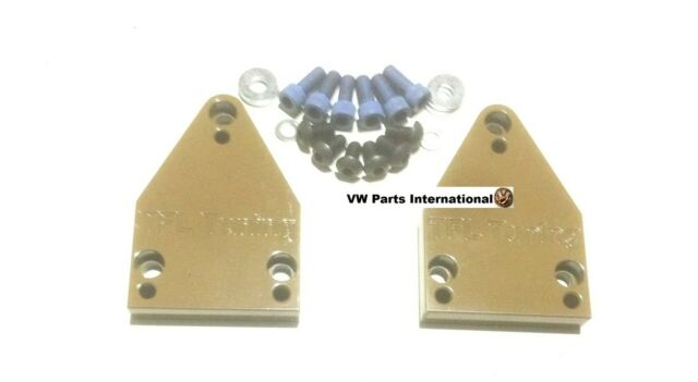 VW GOLF MK2 MK3 GTI VR6 Custom Made CNC Rear Beam Centering Plates Brand New