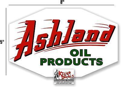 "ASHL-2 12/"" ROUND ASHLAND FLYING OCTANES GASOLINE DECAL GAS OIL PUMP STICKER"