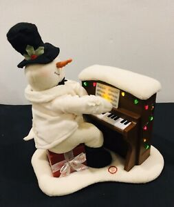 2005-Hallmark-Jingle-Pals-Piano-Snowman-Musical-Lights-Decoration-Please-Read