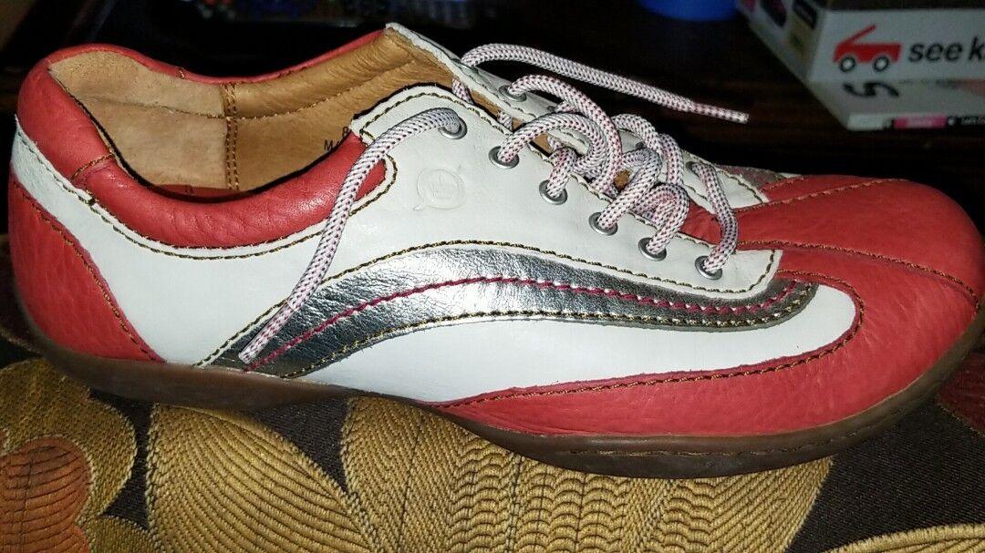 Womens Born Sneaker W51035 White Salmon Pink Silver Size 8 M