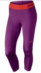 Nike-Pro-Cool-Women-039-s-Training-Capri-Compression-Tights-Running-Gym-Purple-S