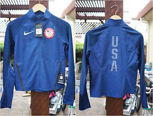 26d0a022eb81 NEW Women Nike Flex Team USA Running Jacket Size XS S M 807373 ...