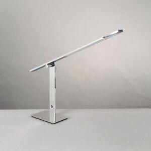 WOFI-LED-Lampara-de-MESA-JET-Niquel-3-stufen-Touch-AJUSTABLE-REGULABLE-8-vatios