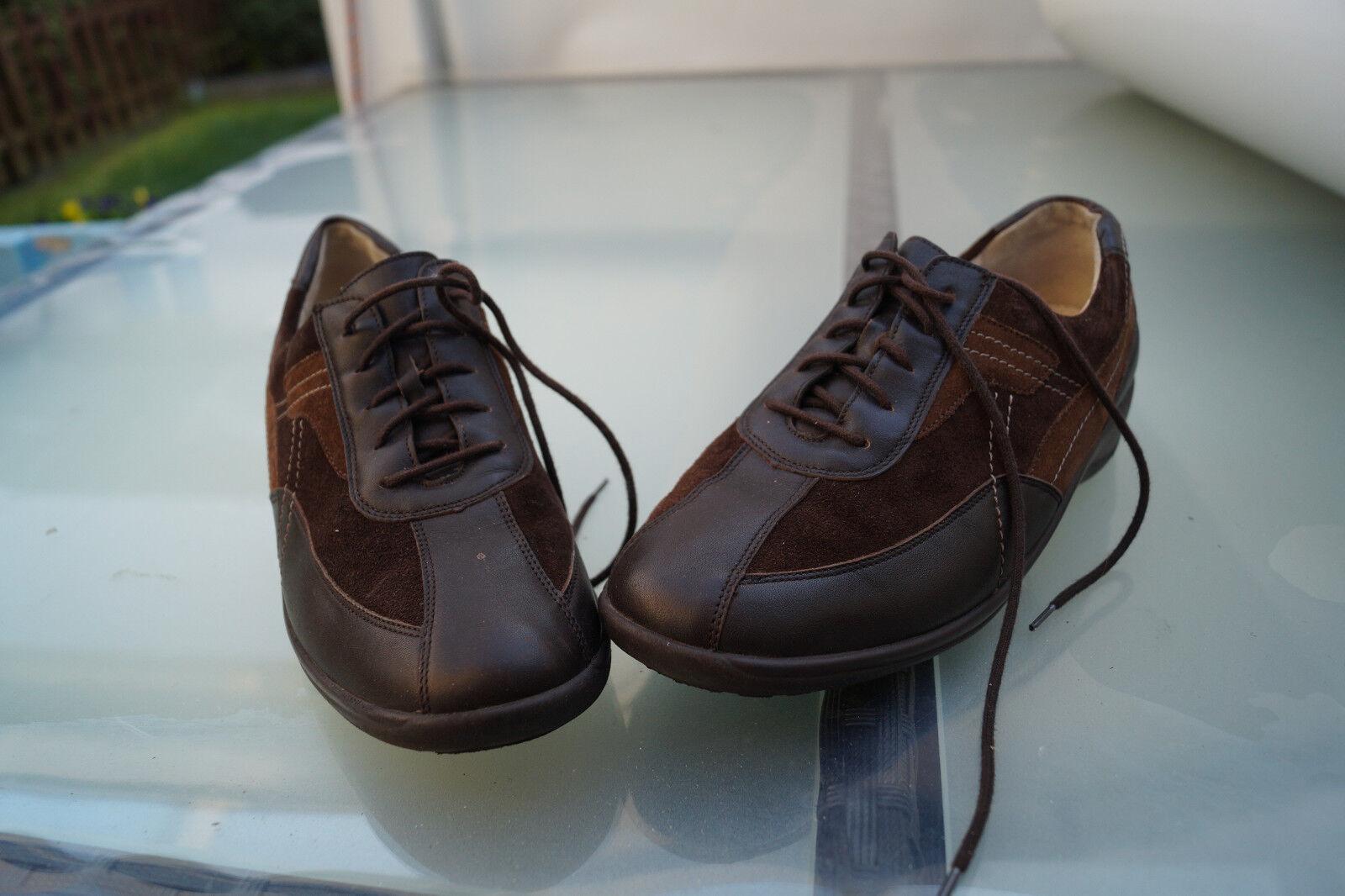 WALDLÄUFER Damen Comfort Gr.5 Schuhe Sneaker Leder mit Einlagen braun Gr.5 Comfort H 38 TOP 071fc7