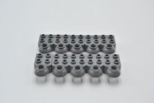 LEGO 10 x Rotationsgelenk neues dunkelgrau Dark Bluish Gray Technic Brick 48170