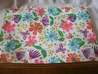 Set Of 4 Butterfly And Flowers 12x18 Polyester Placemats