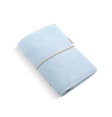 Filofax - Personal Domino Morbido Pallido Blu- Pelle Effetto Organiser