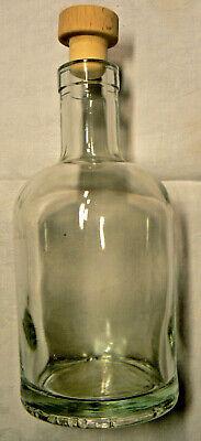 Runde Flasche Mit Holzkork Ø 8,5 Cm 0,6 L 20 Cm Hoch