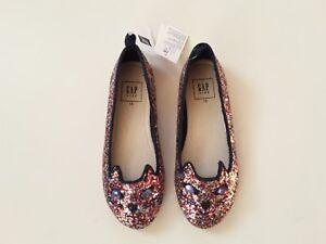 9e0ebe401 NWT GAP KIDS Kitten Multi-Color Glitter Ballet Flat Shoes Size 13 | eBay