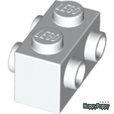 2 seitl Noppen Weiß White NEU 5X Lego® 32952 Konvertersteine 1X1X1 2//3 m