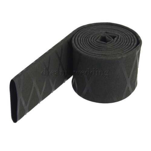 22mm Schrumpfschlauch Rutschfest Griff für Tennisschläger Angelruten-Schwarz