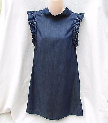 GAP  CHAMBRAY Sundress Summer Dress Cap Sleeve  Womens M
