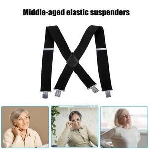 Elastic-Y-Shape-Adult-Suspender-Strap-Clip-on-for-Pants-Trousers-Brace-Belt-AU