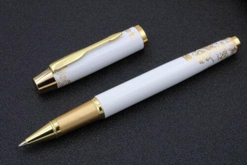 Hero white Metal golden The Great Wall Pattern Roller ball Pen