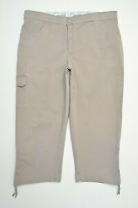 Lee-Size-10-PETITE-Womens-COMFORT-WAIST-Khaki-Tan-CAPRI-Crop-STRETCH-CARGO-Pants